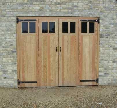 Bi Folding Doors in Douglas Fir