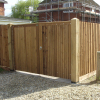 Haughley gates in brown pressure treatment