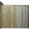 Haughley gates in green pressure treated redwood.