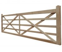 Oak Kennett 5 bar gate