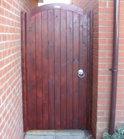 Glemham gate finished in Sadolin Mahogany