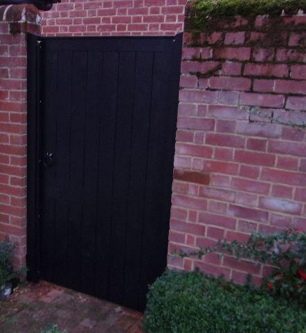 Glemham gate in Black Barn paint