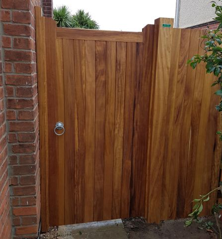 Blyth gate in Iroko with osmo oil