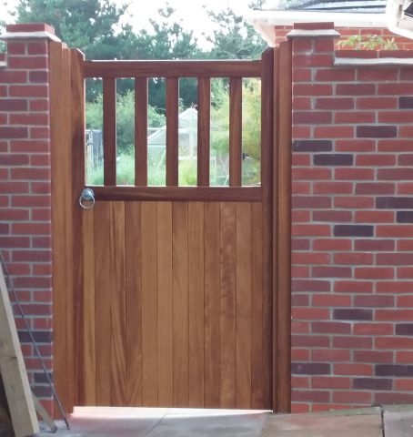 Brett gate in Iroko with osmo oil