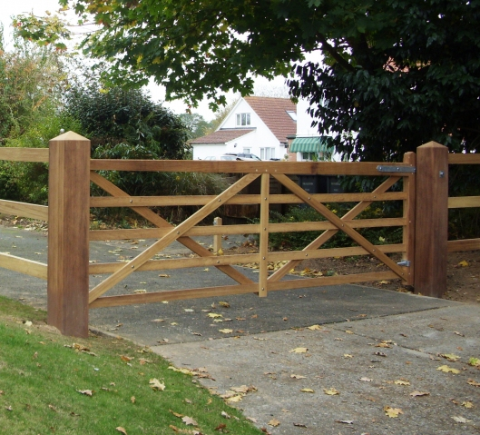 Kennett Gate in Iroko