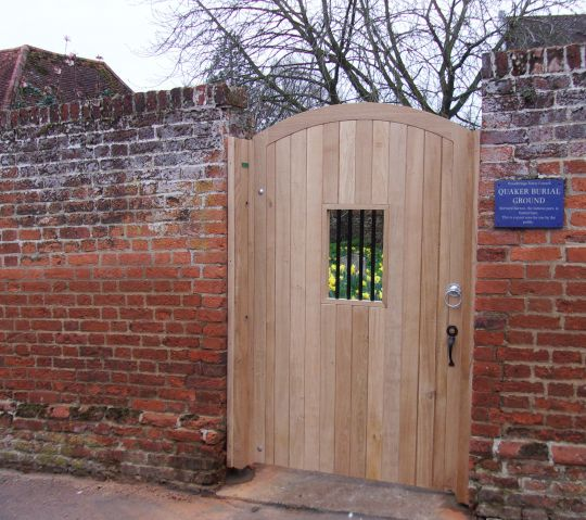 Quaker gate in untreated oak