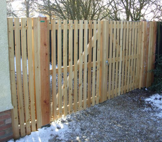 Helmingham gate in larch with osmo oil