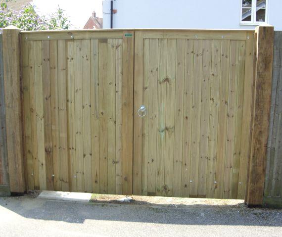 Glemham gates in pressure treated softwood