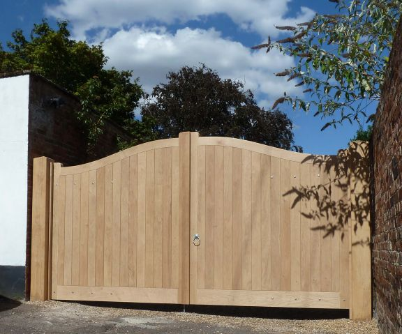 Needham Gates in seasoned Oak