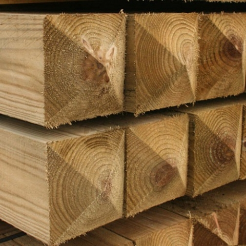 Softwood posts