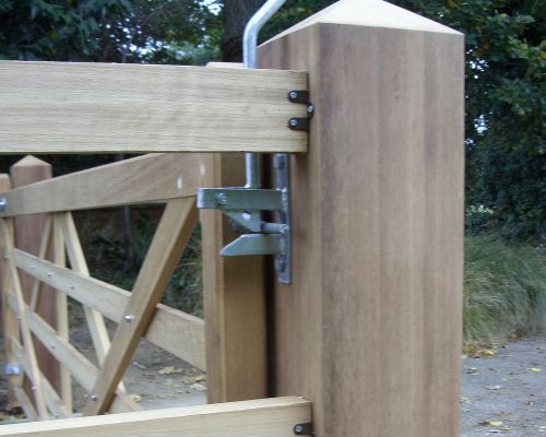 Iroko Gate Posts