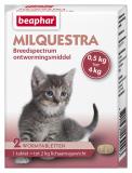 Milquestra wormtabletten kleine kat/kitten 2st.