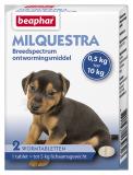 Milquestra wormtabletten kleine hond/puppy 2st.