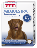 Milquestra wormtabletten hond 2st.