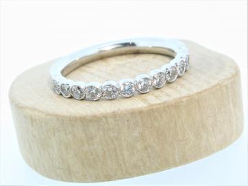 18ct White Gold 0.46ct Milligrain Diamond Ring