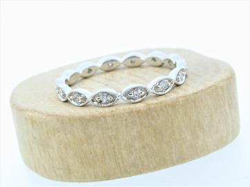 18ct White Gold Vintage Inspired Diamond Ring