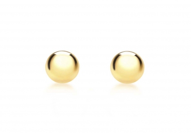 9ct Yellow Gold Ball Stud Earrings