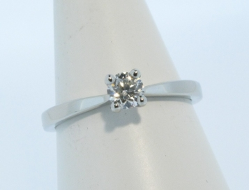 Platinum 0.25ct Diamond Solitaire Ring