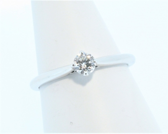18ct White Gold 0.20ct Compass Claw Diamond Solitaire