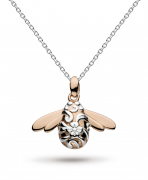 """Kit Heath Large Blossom Bumblebee Rose Gold Vermeil 18"""" Necklace"""