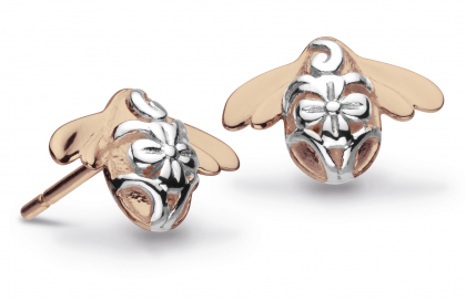 Kit Heath Blossom Bumblebee Rose Gold Vermeil Studs