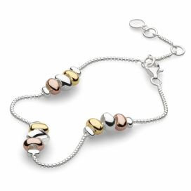 Kit Heath Coast Tumble Trio Gold, Rose Gold Vermeil Bracelet