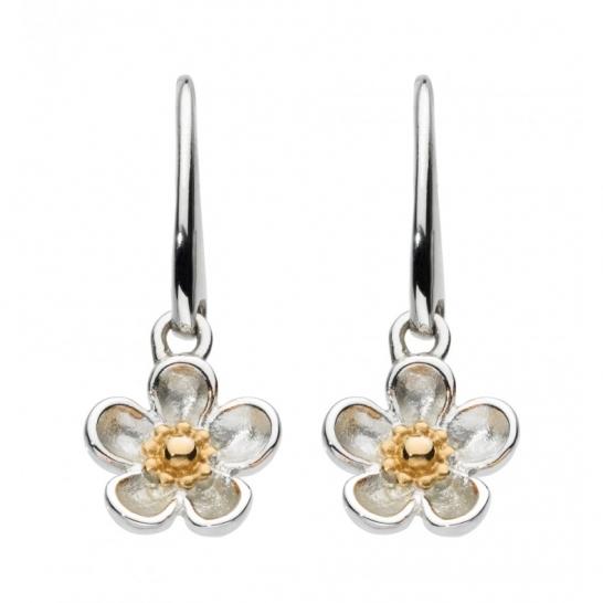 Kit Heath Wood Rose Drop Earrings