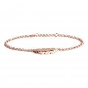 Muru Feather Bracelet Silver/Rose Gold