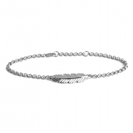 Muru Feather Bracelet Silver/Rose Gold