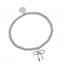 Muru Bead Bow Bracelet Silver