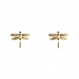 Muru Dragonfly Yellow Gold Vermeil Studs