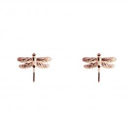Muru Dragonfly Studs Rose Gold Vermeil