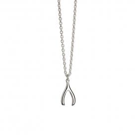 Muru Mini Wishbone Pendant Silver
