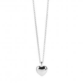 Muru Heart Pebble Pendant Silver/Gold Vermeil