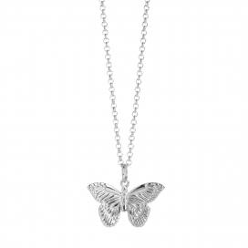 Muru Butterfly Necklet Silver