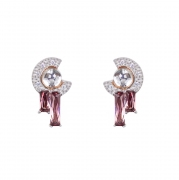 V Jewellery Robyn Earrings In Rouge