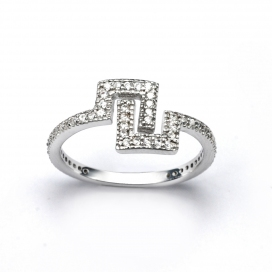 V Jewellery Maze Ring