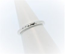 Anouska Ring 9ct White Gold Glitter Hammer Hand Made By Mark Riley