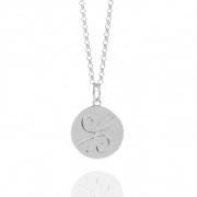 Muru Silver Friendship Coin Necklace