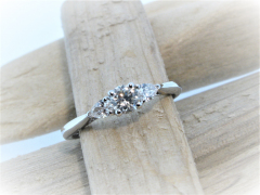 18ct White Gold 0.40ct Diamond 3 Stone Ring