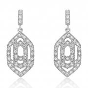 V Jewellery Marquise Interlock Earrings