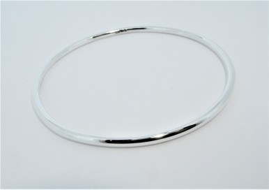 Anouska Bangle Silver Polished Hand Made by Mark Riley