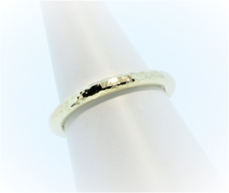 Anouska Ring 9ct Yellow Gold Glitter Hammer Hand Made By Mark Riley