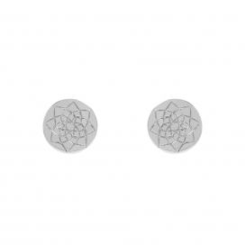 Muru Prosperity Silver Coin Earrings