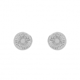 Muru Positive Energy Silver Coin Earrings