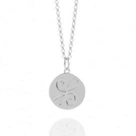 Muru Silver Friendship Coin Necklace