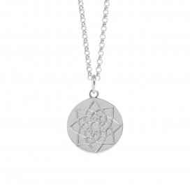 Muru Prosperity Silver Coin Necklace