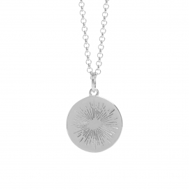 Muru Positive Energy Silver Coin Necklace
