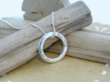 Hand Made by Mark Riley Personalised Slider Pendant
