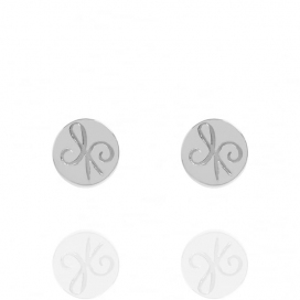 Muru Silver Friendship Coin Stud Earrings